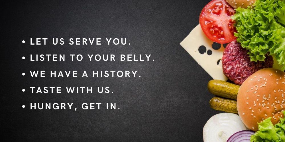 restaurant slogans list
