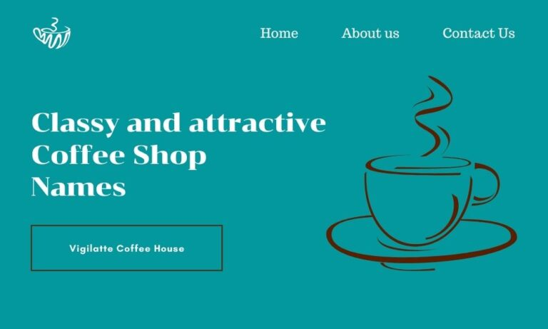 classy coffee shop name ideas