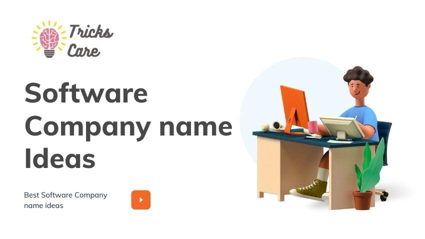 Innovative software company name ideas