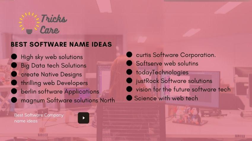 Innovative software development company name ideas
