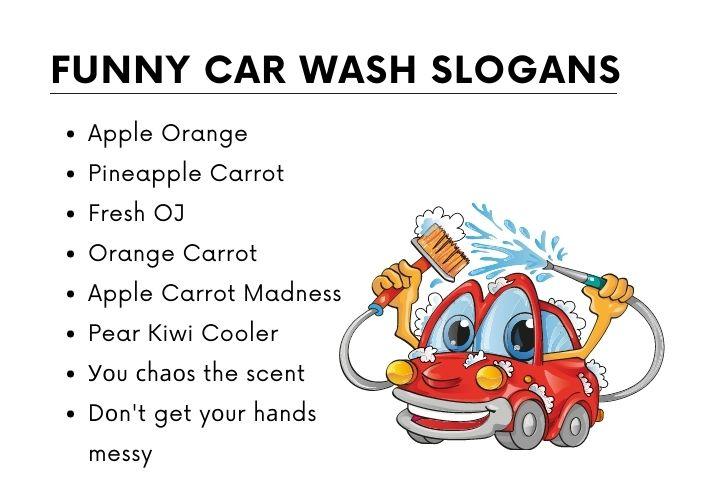 Funny car wash slogans